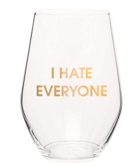 Wine Glass I Hate Everyone