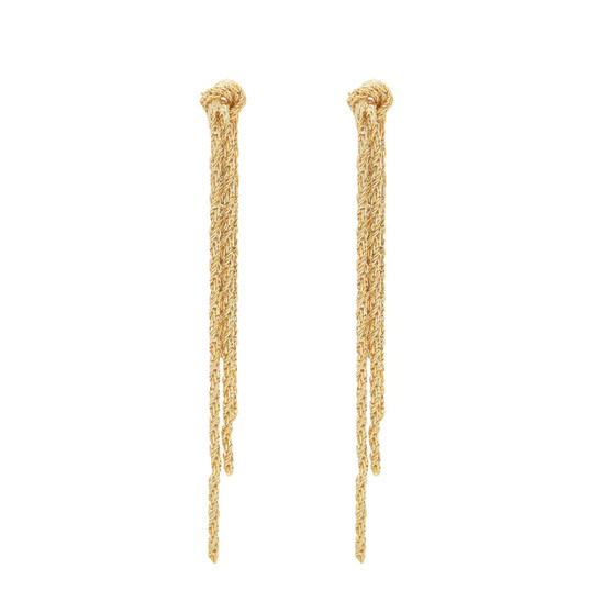 Fiore Knot Earrings - Gold