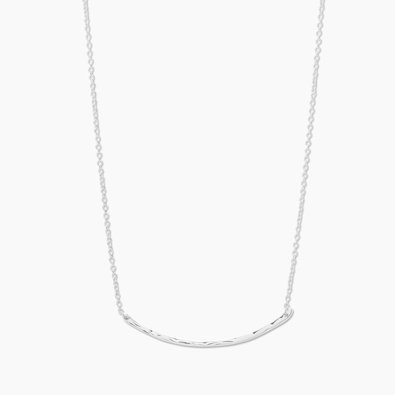 Taner Bar Necklace - Silver