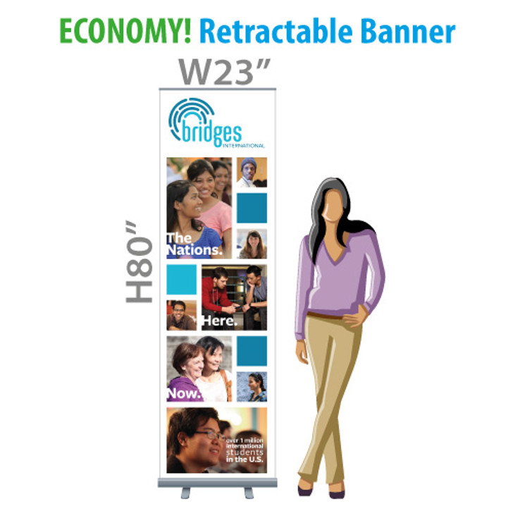 "BRIDGES (Recruit) - 23"" ECONOMY! Retractable Banner (Fabric)"