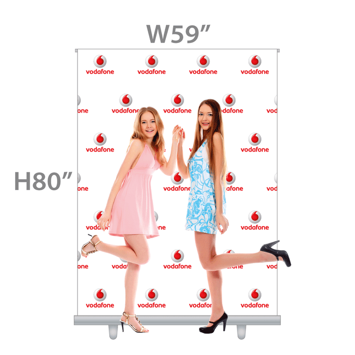 W5ft PROFESSIONAL! Retractable Banner (Fabric) with Velcro Easy-change Banner feature