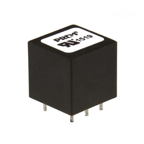 "SPT-015-UL: 0.640"" Sq. x 0.600"" H, -72dB Max. THD, Safety Critical Coupling Transformer"