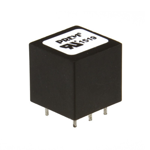 "SPT-015-UL: 0.640"" Sq. x 0.600"" H, -72dB Max. THD, Safety Critical Coupling Transformer"