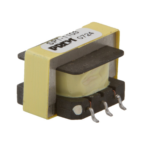 """SPT-1103: 600Ω:600Ω Impedance, 0.790"""" Max. L x 0.480"""" Max. H, Surface Mount, Coupling Transformer"""