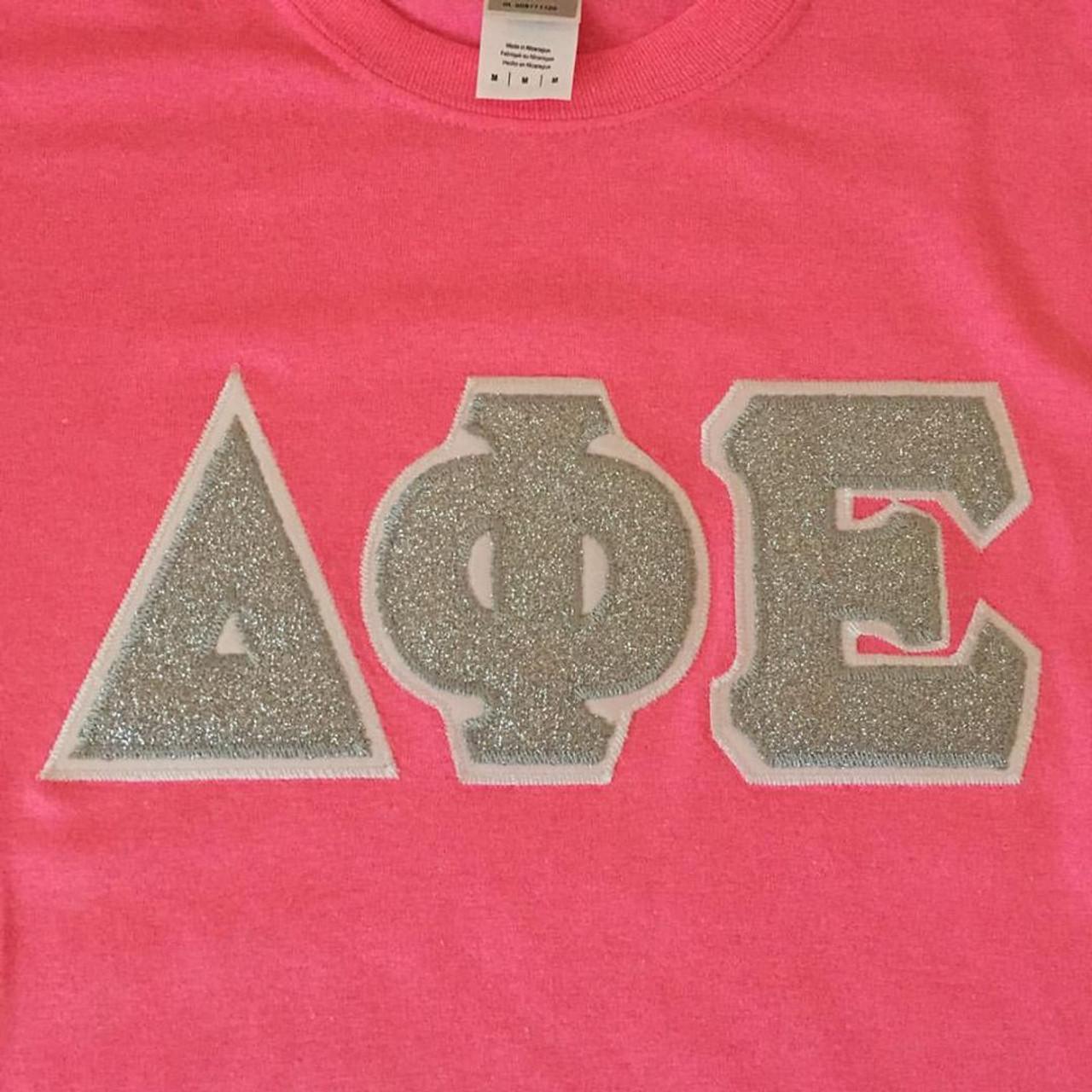 Custom Glitter Greek Letter Shirt