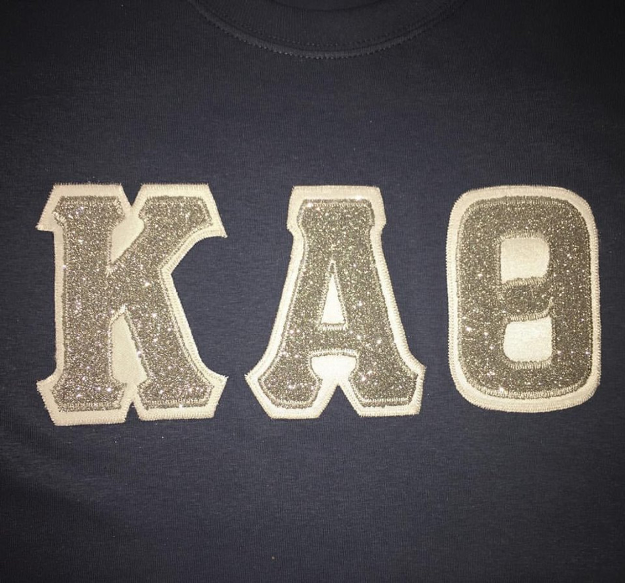 Custom Glitter Greek Letter Shirt