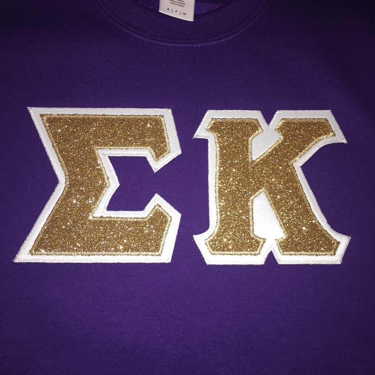 d017e78806b54 Custom Glitter Greek Letter Shirt