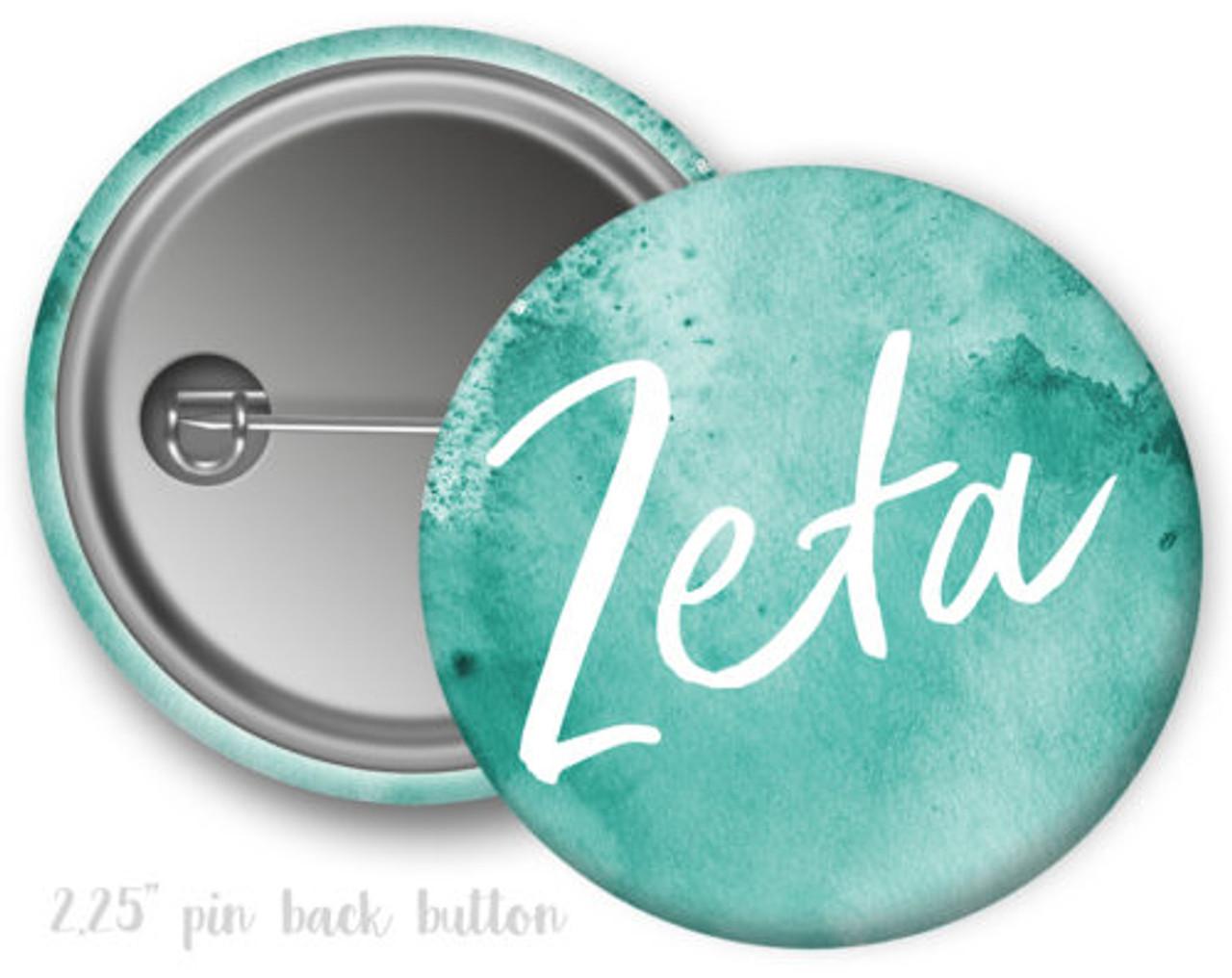 Zeta Tau Alpha Sorority Buttons
