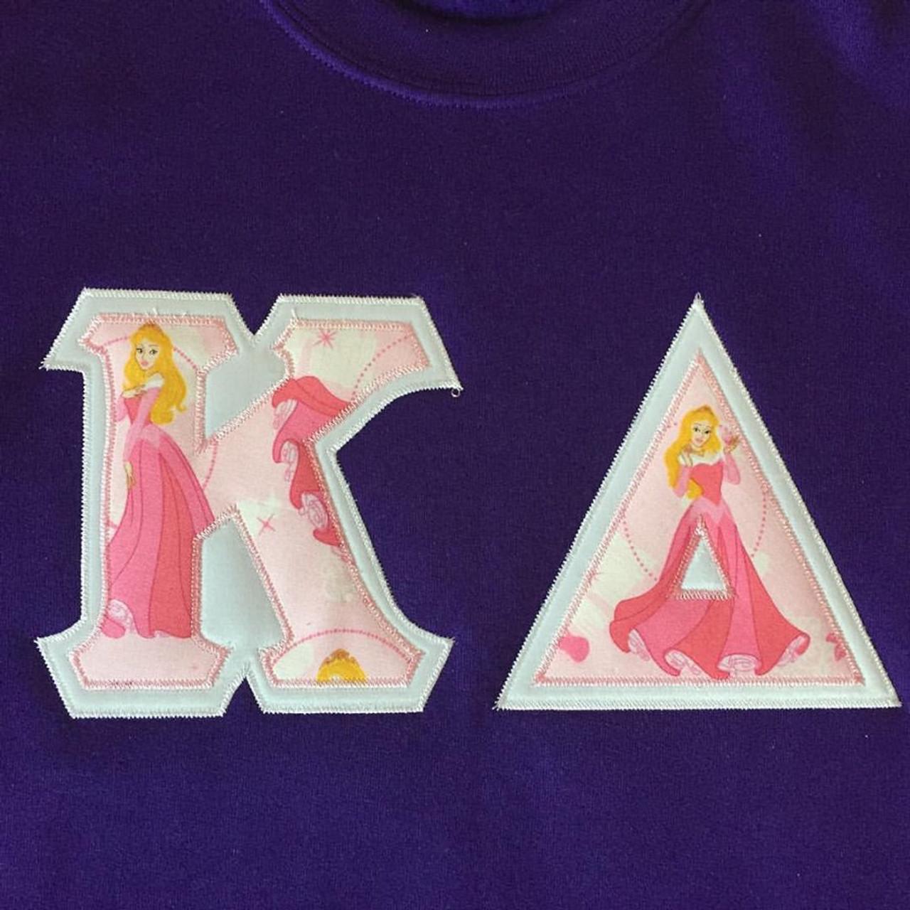 Custom Aurora Stitched Letter Shirt The Sorority Spot