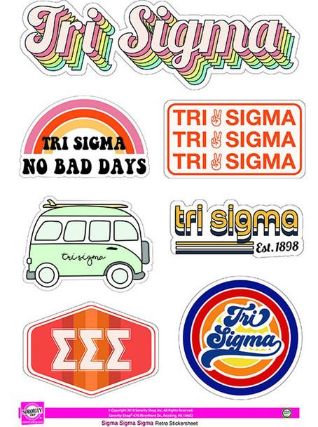 Retro Sorority Stickers