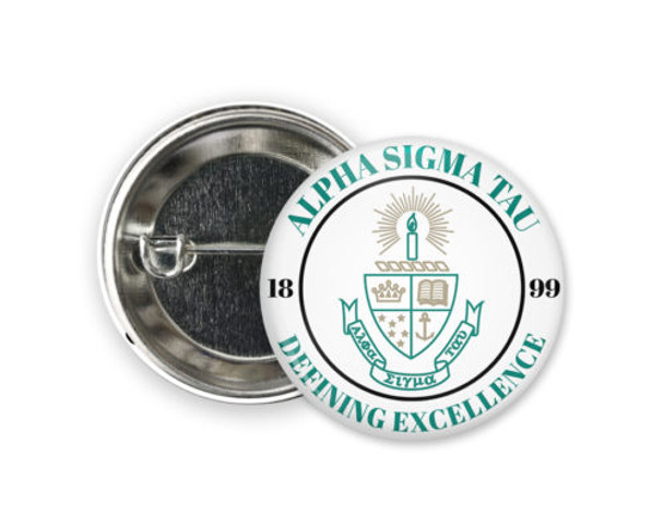 Alpha Sigma Tau Seal Button