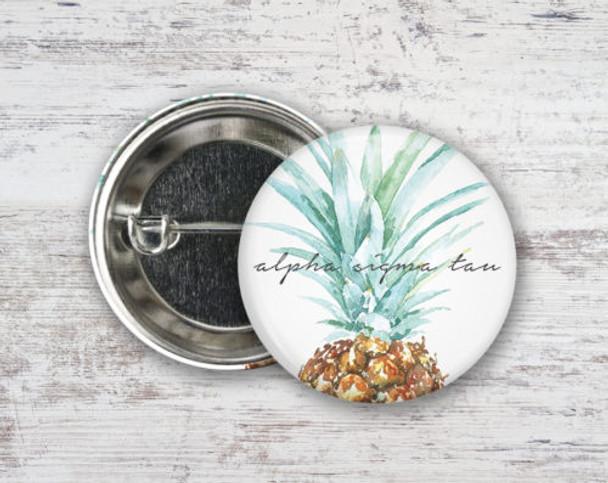 Alpha Sigma Tau Pineapple Button