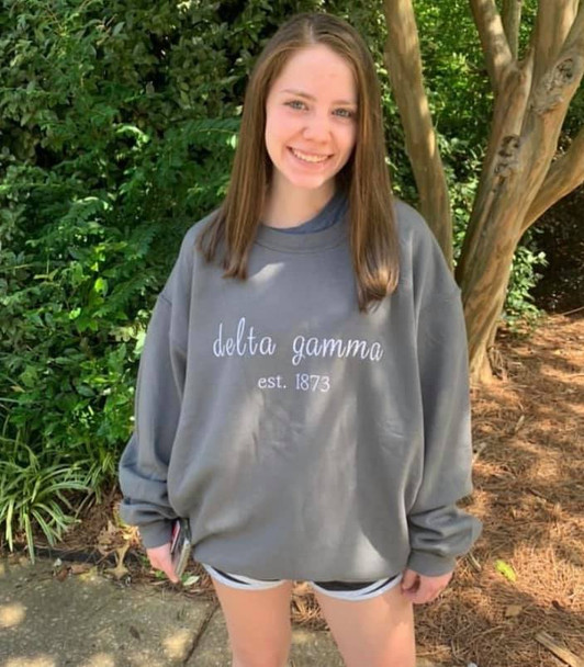 Embroidered Sorority Name Plus Founding  Date Shirt