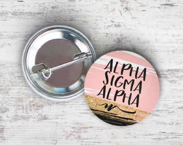 Alpha Sigma Alpha Rosegold Button