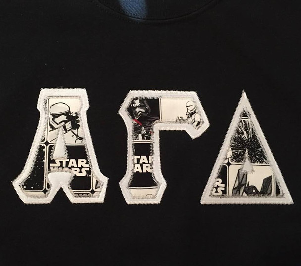 Custom Star Wars Stitched Letter Shirt