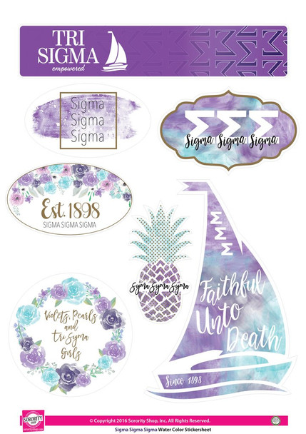 Watercolor Sorority Stickers