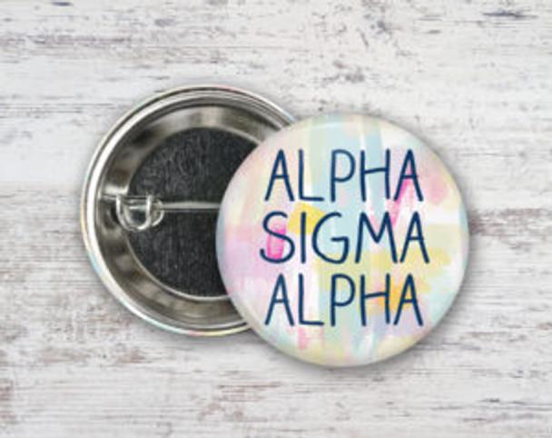 Alpha Sigma Alpha Pastel Stroke Button
