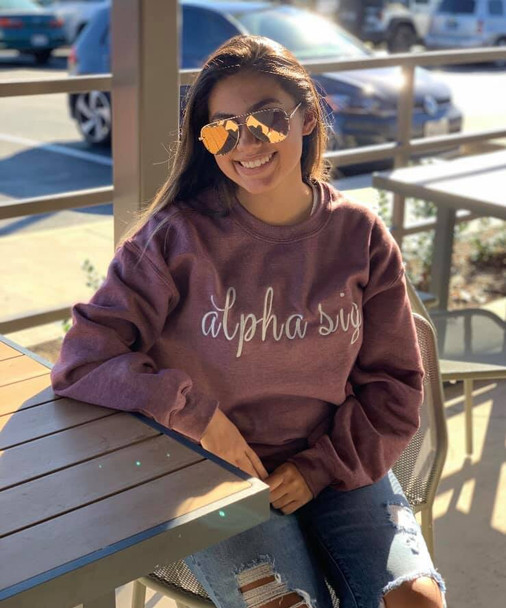 Embroidered Sorority Shirt (shown in alpha sig)