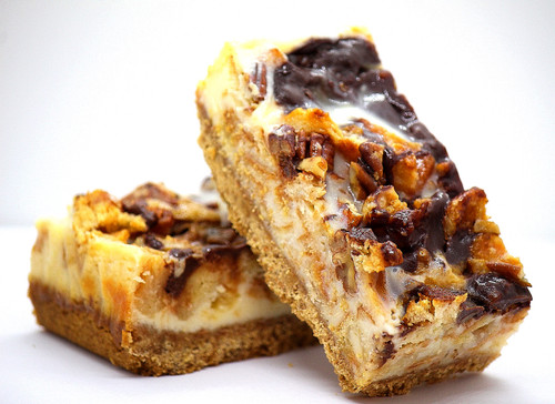 Toffee Waffle and Pecan Cheesecake Bar (NUTS)