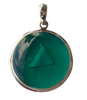 24mm Framed Pendant Set in Silver - Activates the Imune System