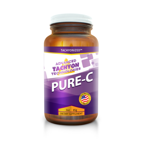 Tachyonized Pure-C is pure and natural, whole food Vitamin C. A Tachyon energy product essential for health and well-being. It's all natural and organic, non-GMO, no pesticides. The best and most potent source of Vitamin C on the market..