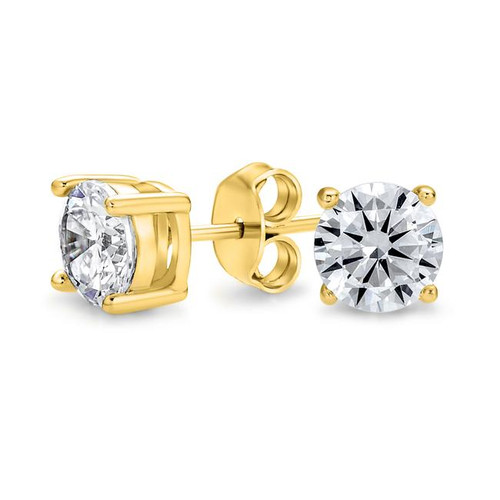 5mm CZ Stud Earrings - Gold Plated - Energize the Ear's Microsystem