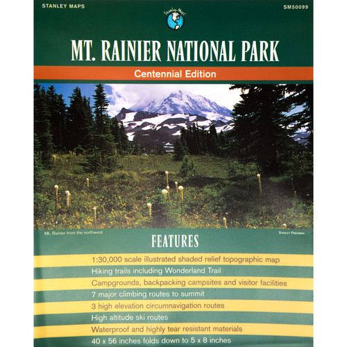 Mount Rainier National Parks Map