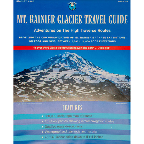 Mount Rainier Glacier Travel Guide Map