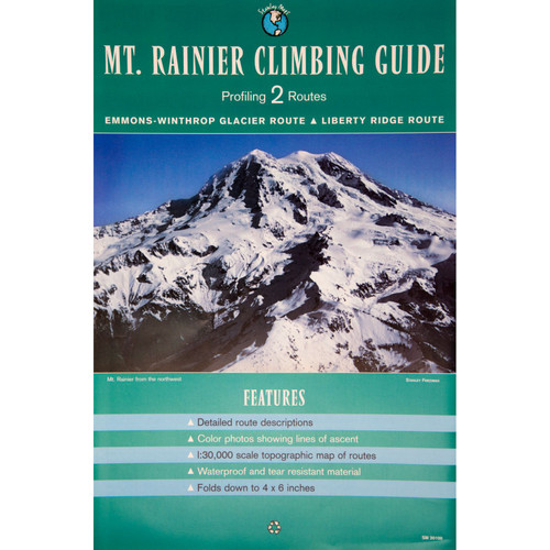 Mount Rainier 2 Route Climbing Guide Map