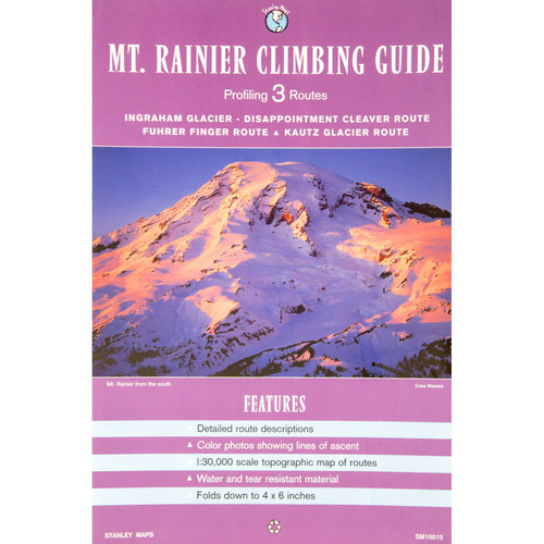 Mount Rainier 3 Route Climbing Guide Map