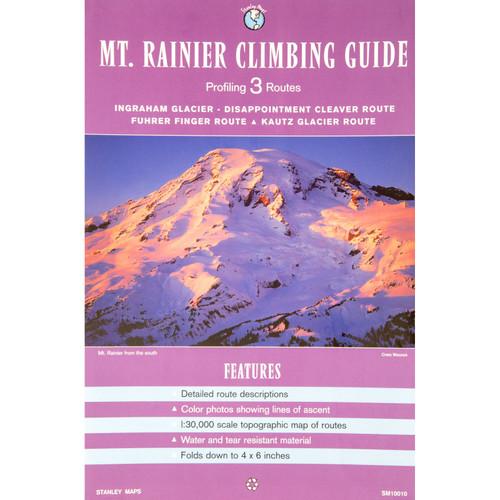 Mount Rainier 3 Route Climbing Guide Map