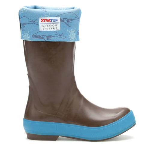 "Xtratuf 15"" Salmon Sister Legacy Boot - Women's - Chocolate/Whale Print"