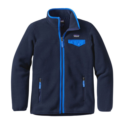 Patagonia Girls' LW Synchilla Snap-T Fleece Jacket - Navy Blue