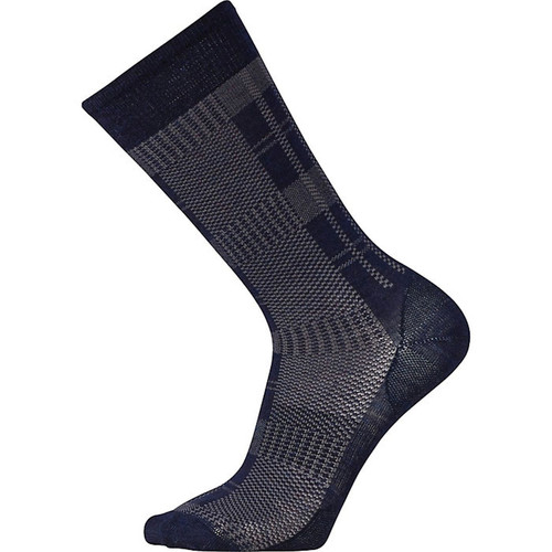 Smartwool Glen Plaid Crew Sock - Deep Navy Heather