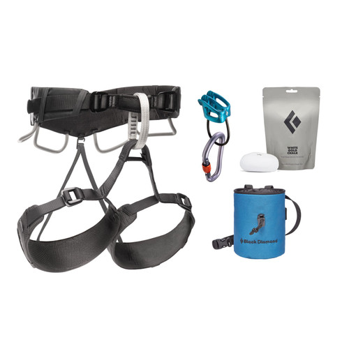 Black Diamond 4S Momentum Harness Package - Unisex - Anthracite