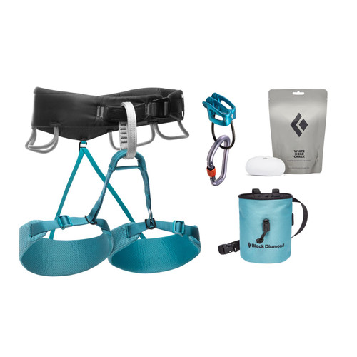 Black Diamond Momentum Harness Package -Women's - Aqua Verde