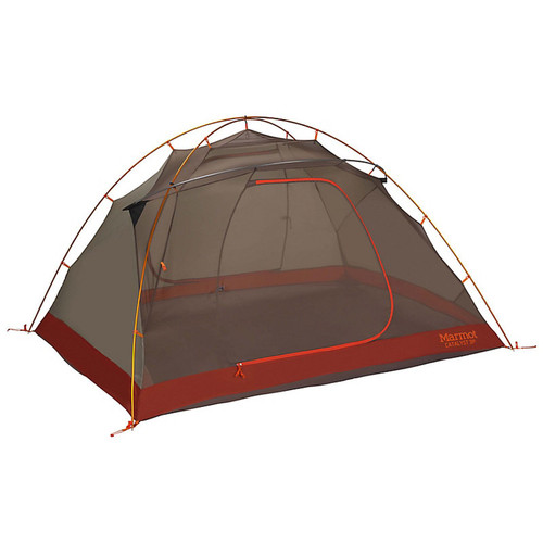 Tent Without Rainfly Attached View - Rusted Orange/Cinder