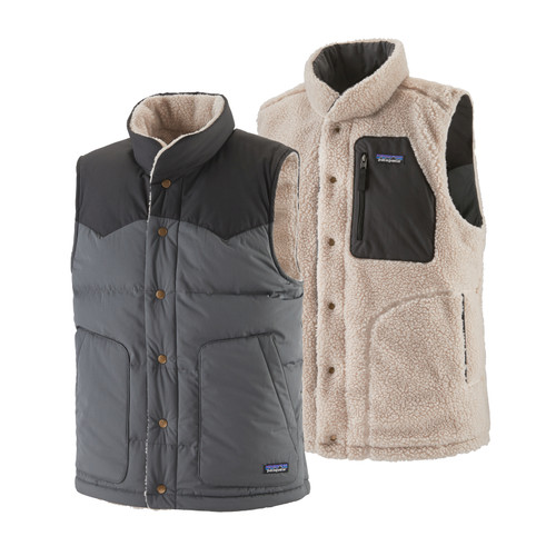 Patagonia Reversible Bivy Down Vest - Men's - Forge Grey