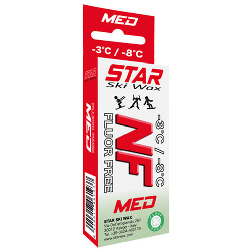 Star NF Medium Non-Fluoro Ski Glide Wax - 60 g