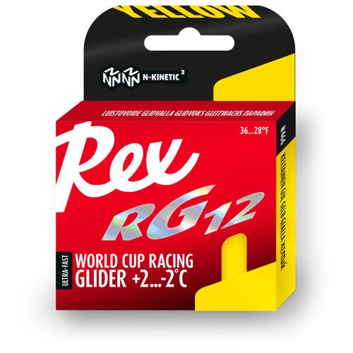 Rex RG12 Yellow Ski Glide Wax - 40g