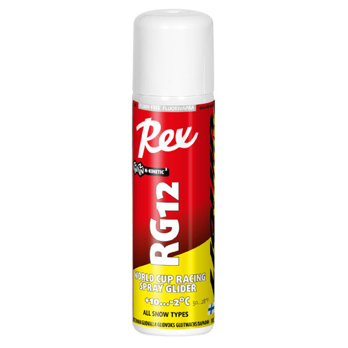 Rex RG12 Yellow Spray Ski Glide Wax -150ml