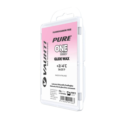 Vauhti Pure One Mid Ski Glide Wax - 60g