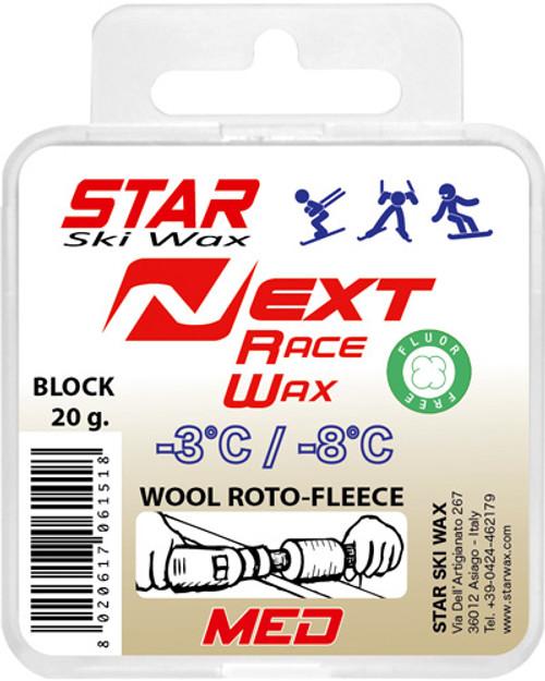 Star NEXT Medium Fluoro-Free  Block Ski Glide Wax - 20g