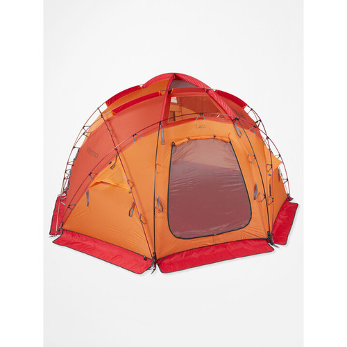 Marmot Lair 8 Person Expedition Tent - Terra Cotta/Pale Pumpkin