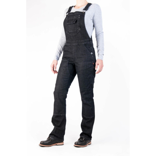 Dovetail Workwear Freshley Overall - Women's - Heathered Black Denim