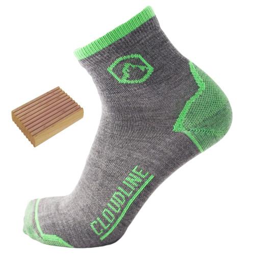 Cloudline Merino Wool Top 1/4 Ultra Light Cushion Running Socks - Men's