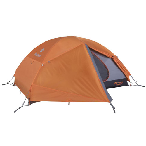 Marmot Fortress 2 Person Backpacking Tent - 2 Person - Tangelo/Grey Storm