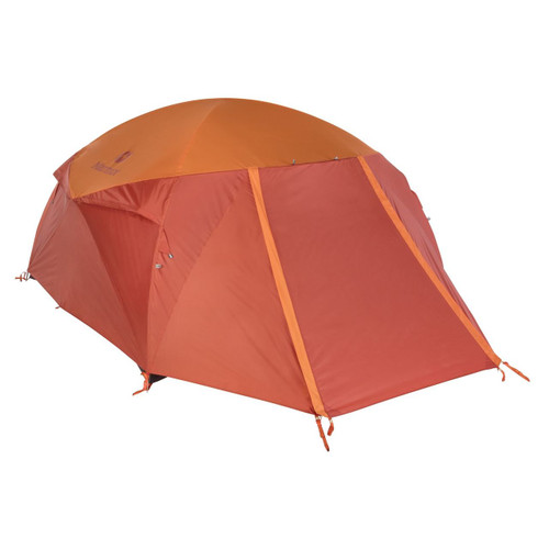 Marmot Halo 4 Person Family Camping Tent -Tangelo/Rusted Orange