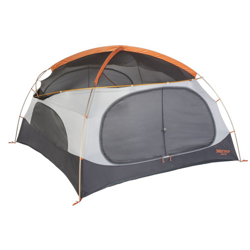 Marmot Halo 4 Person Family Camping Tent - Tangelo/Rusted Orange