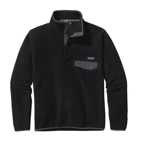 Patagonia Lightweight Synchilla Snap-T Fleece Pullover - Men's - Black w/Forge Grey